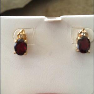 Jewelry - Ruby Diamond Earrings